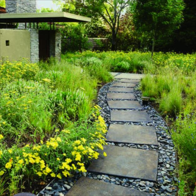 25 Yard Landscaping Ideas, Curvy Garden Path Designs to ... on Backyard Walkway Ideas id=12439