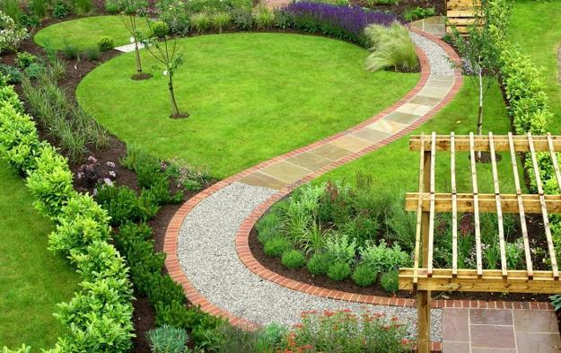 25 Yard Landscaping Ideas, Curvy Garden Path Designs to ... on Patio And Path Ideas  id=72176