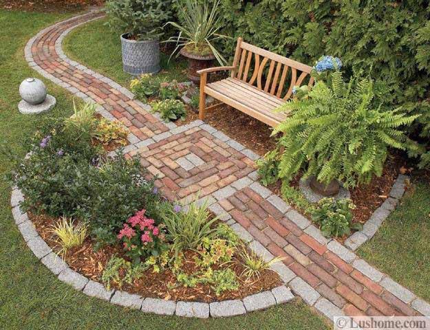 30 Stone Walkways and Garden Path Design Ideas on Patio And Path Ideas  id=27501