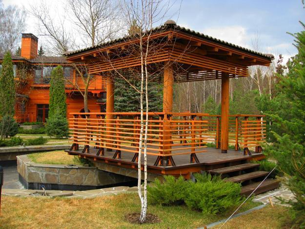 22 Beautiful Wooden Garden Designs to Personalize Backyard ... on Wooded Backyard Ideas id=55079