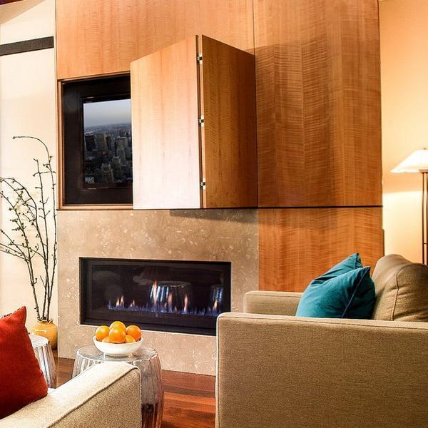 22 Modern Ideas To Hide TVs Behind Hinged Or Sliding Doors