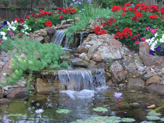 21 Waterfall Ideas to Add Tranquility to Rock Garden Design on Rock Garden Waterfall Ideas  id=13152