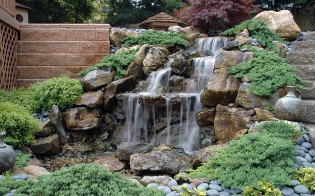 21 Waterfall Ideas to Add Tranquility to Rock Garden Design on Rock Garden Waterfall Ideas  id=32500