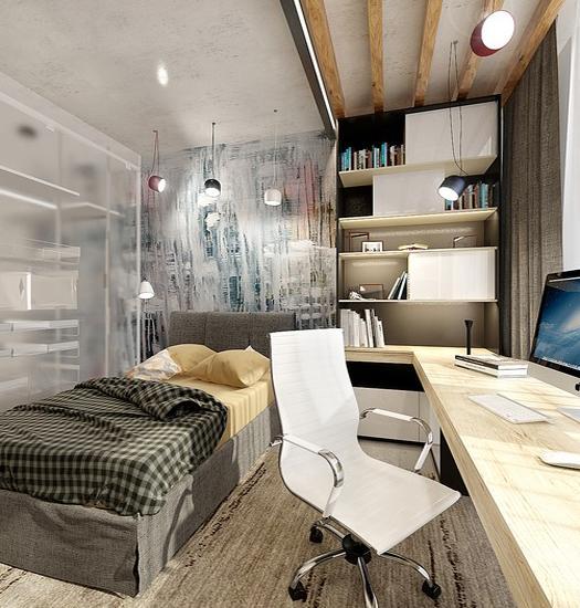 22 Teenage Bedroom Designs, Modern Ideas for Cool Boys ... on Teenage Small Room Ideas  id=88220