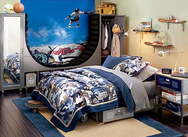22 Teenage Bedroom Designs, Modern Ideas for Cool Boys ... on Cool Bedroom Ideas For Guys Small Rooms  id=23801