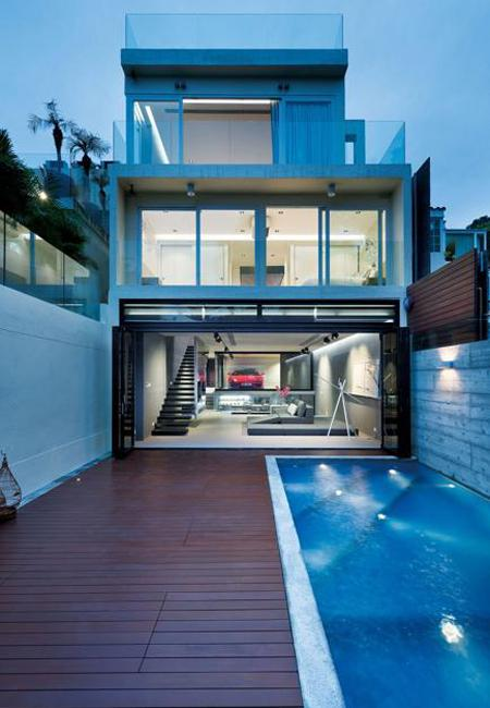 Amazing Modern House Design with Glass Walled Garage by ... on Modern Glass House Design  id=32939