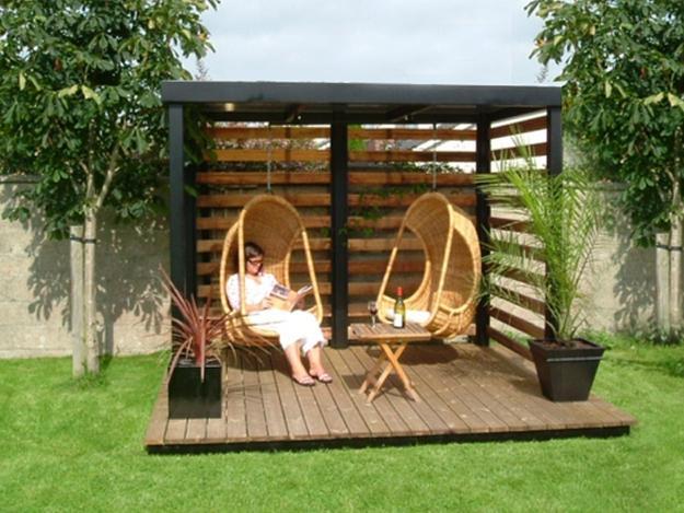 Beautiful Gazebo Designs Creating Contemporary Outdoor ... on Small Garden Sitting Area Ideas  id=87977