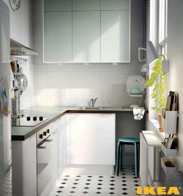Ways to Open Small Kitchens, Space Saving Ideas from IKEA on Small Space Small Kitchen Ideas  id=93094