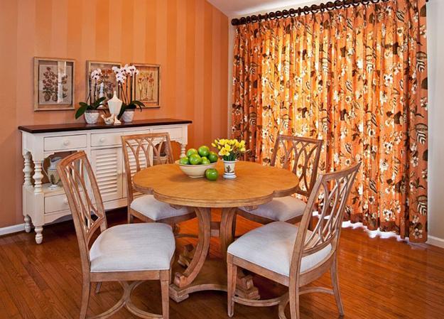 Modern Dining Room Decorating Ideas Orange Paint Colors