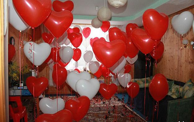 Basket Day Balloons Valentines Small