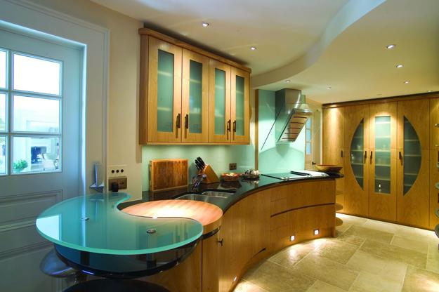 Modern Glass Kitchen Countertop Ideas, Latest Trends in ... on Countertop Decor  id=19722