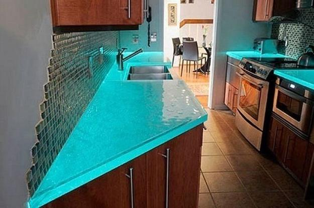 Modern Glass Kitchen Countertop Ideas, Latest Trends in ... on Countertop Decor  id=63775