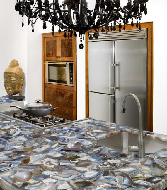 22 Contemporary Concrete and Stone Kitchen Countertop Ideas on Modern Kitchen Countertop Decor  id=73103