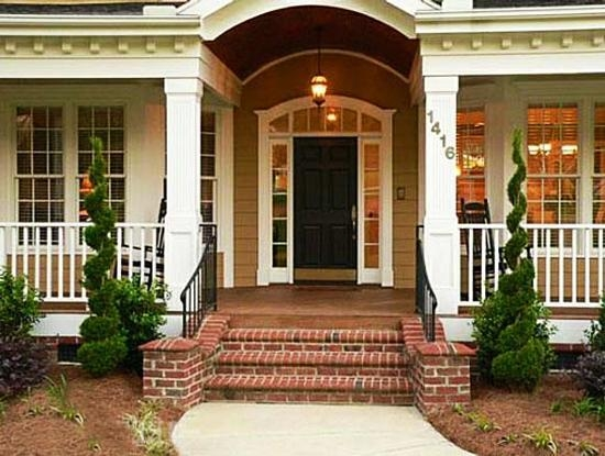 Entrance Staircase Designs To Beautify Homes And Improve Curb Appeal | Home Front Steps Design | House | Main Door Step | Unusual | Front House Terrace | Rounded