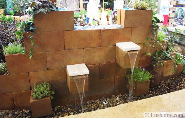 Original Cinder Block Ideas for DIY Yard Decorations on Backyard Cinder Block Wall Ideas  id=79286