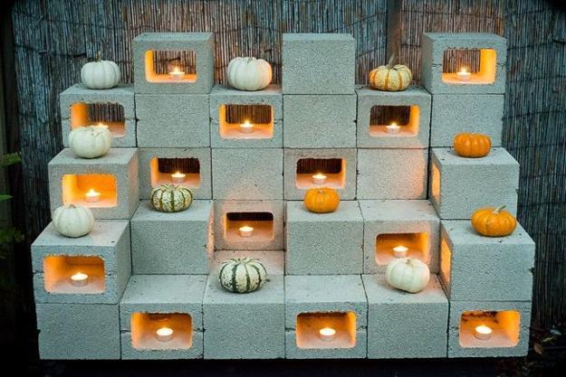 Original Cinder Block Ideas for DIY Yard Decorations on Backyard Cinder Block Wall Ideas  id=47554