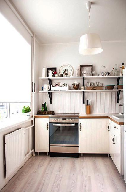 Small Kitchen Design Ideas, How to Stretch Small Spaces ... on Small Space Small Kitchen Ideas  id=89457