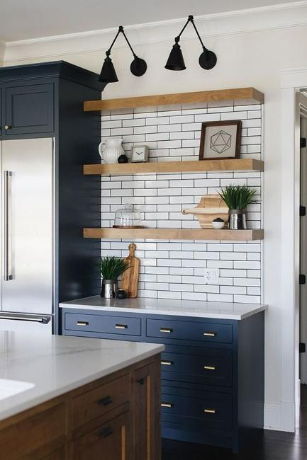 Beautiful Wooden Shelves in Modern Kitchens, Simplified ... on Rustic:fkvt0Ptafus= Farmhouse Kitchen  id=61666
