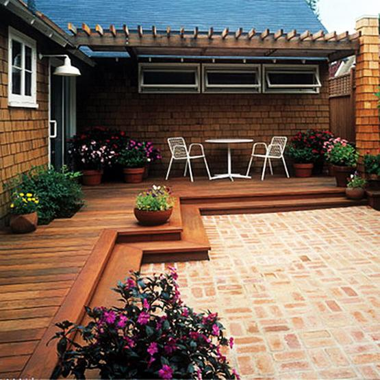 Practical Decorating Ideas for Small Wooden Decks, Outdoor ... on Wood Deck Ideas For Backyard  id=15831