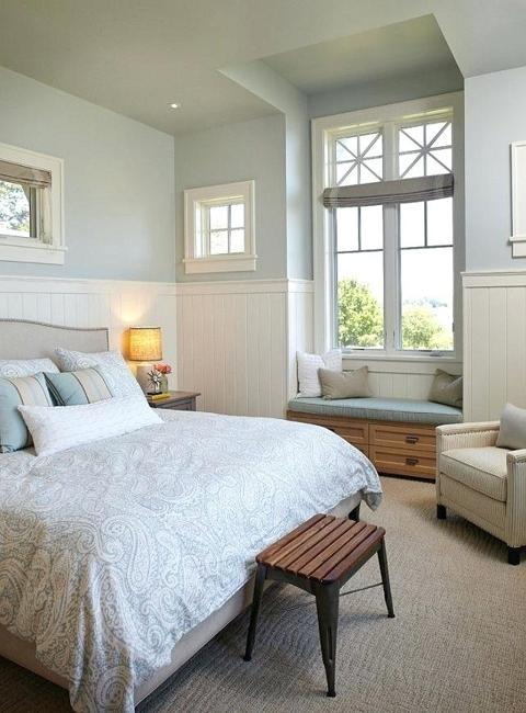 Check out refinery29 for the best bedroom decor ideas! Elegant Grayish Blue and White Room Colors, Modern
