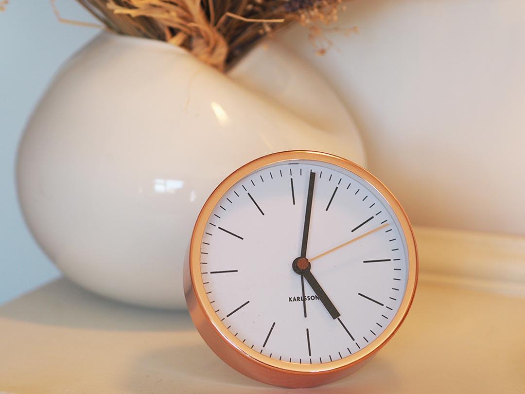 Karlsson Minimal Copper Alarm Clock