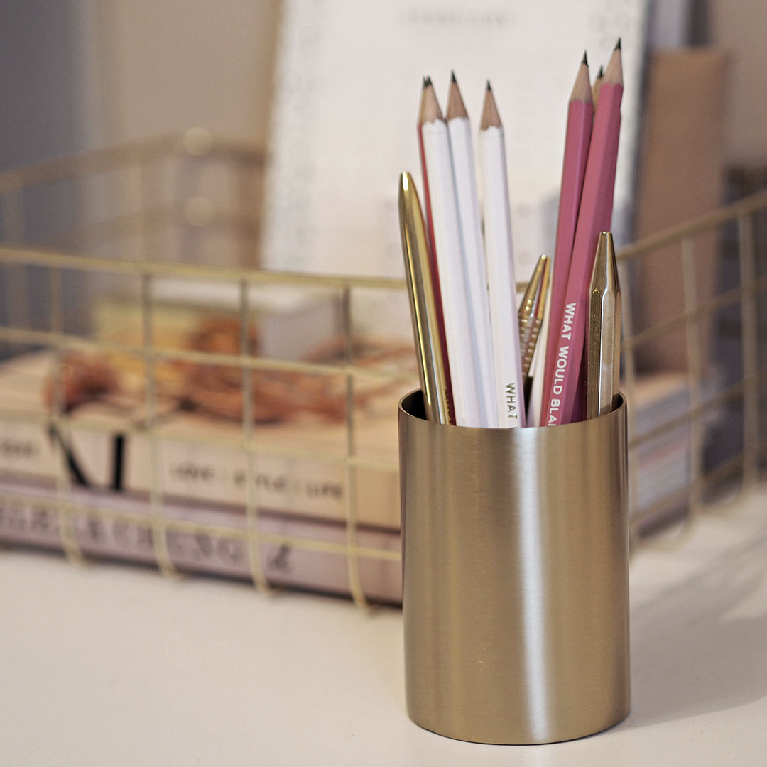 ferm living brass pen pot