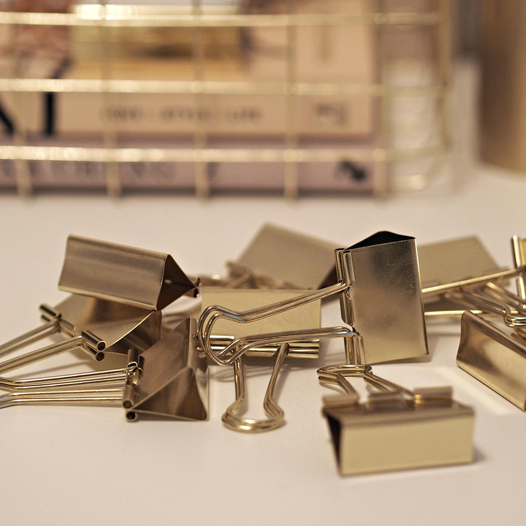 house doctor gold bulldog clips