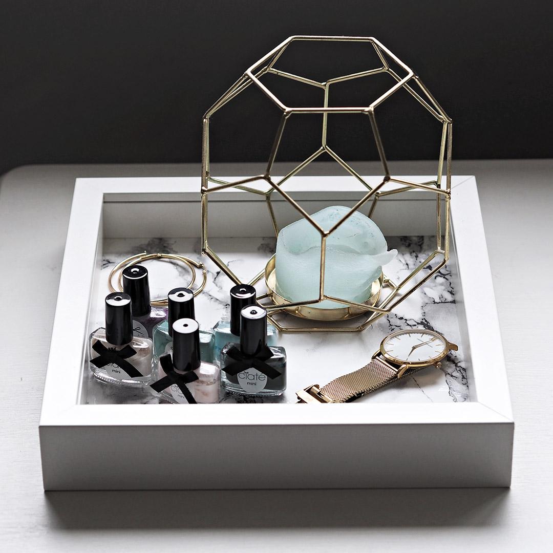 Marble tray DIY