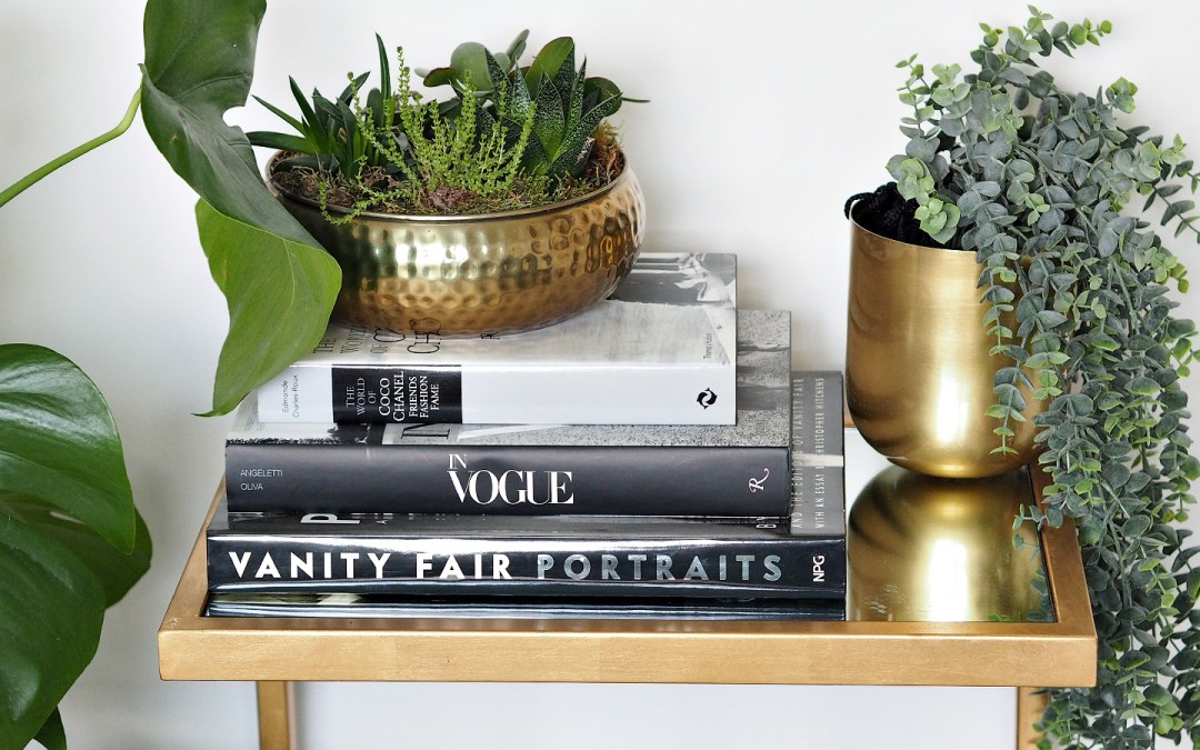 How To Style A Gold Side Table