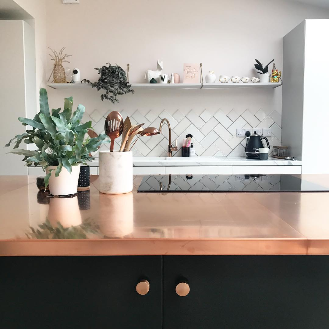 Copper Kitchen Worktop