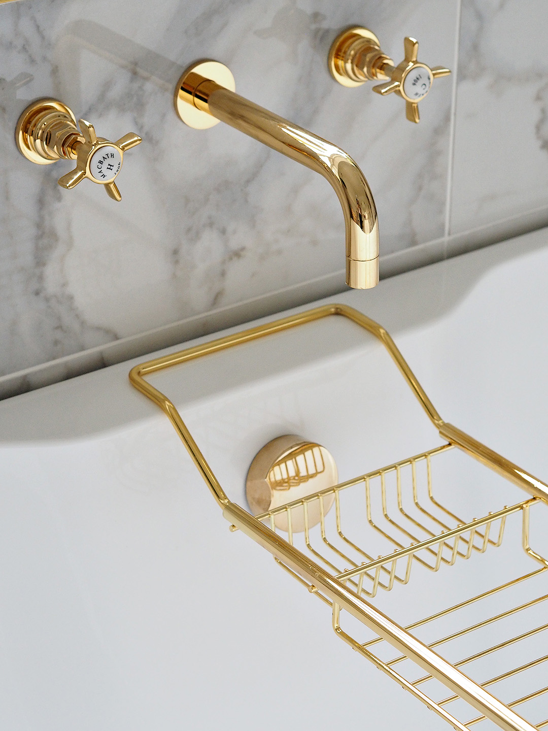 Marble & Gold Bathroom