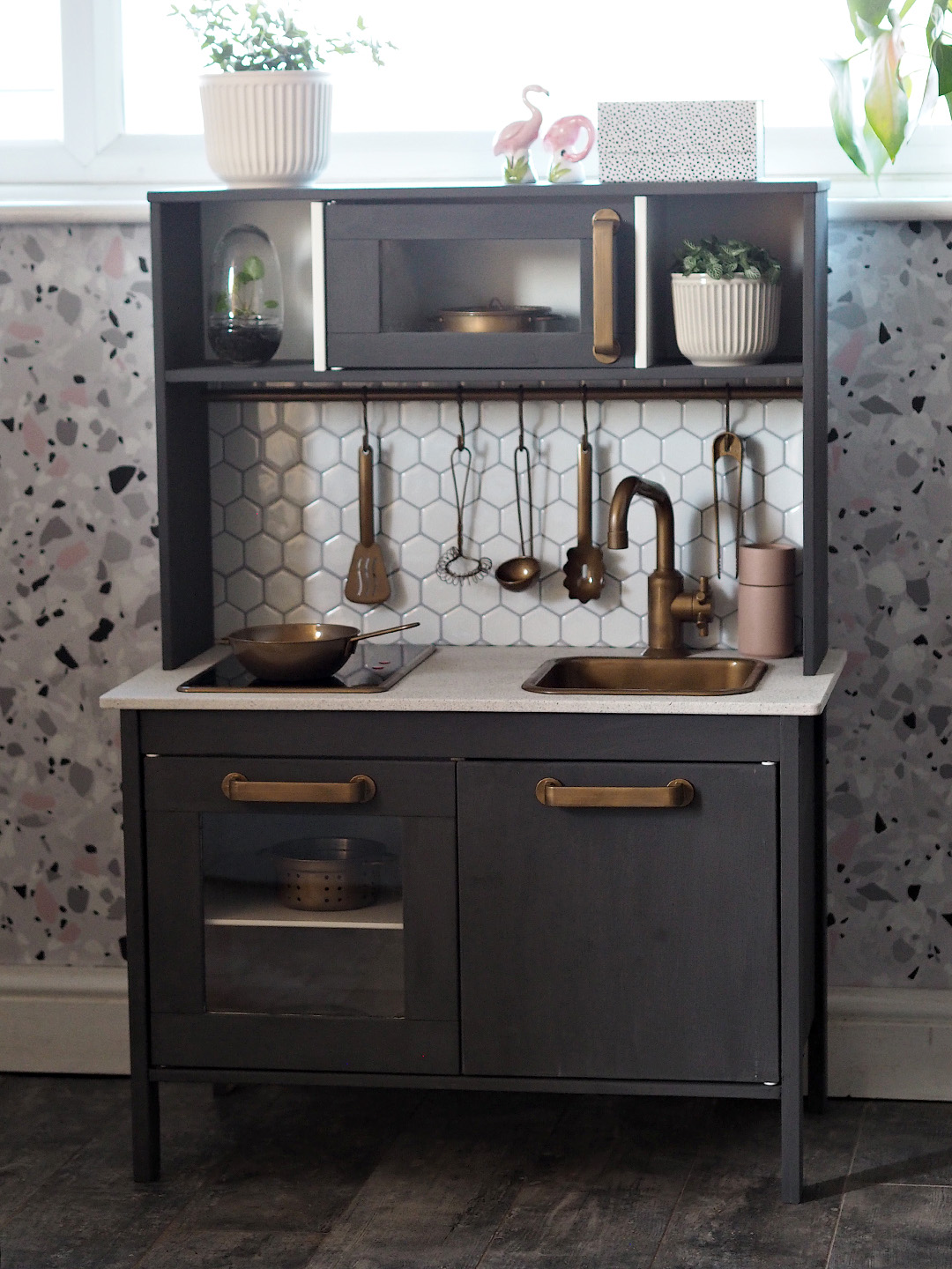 IKEA DUKTIG Play Kitchen with Aldi Upcycling Range