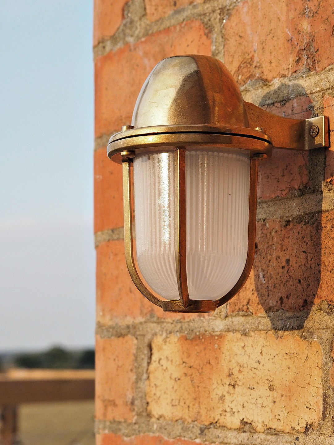 Outdoor brass lighting