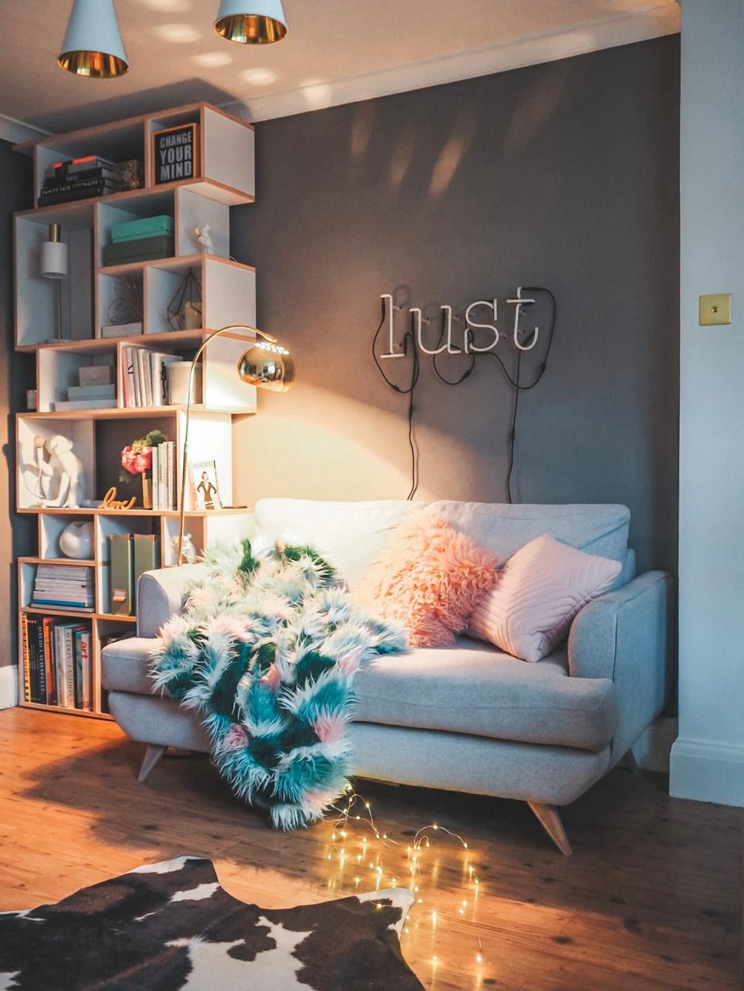 DFS Lull Grey Sofa