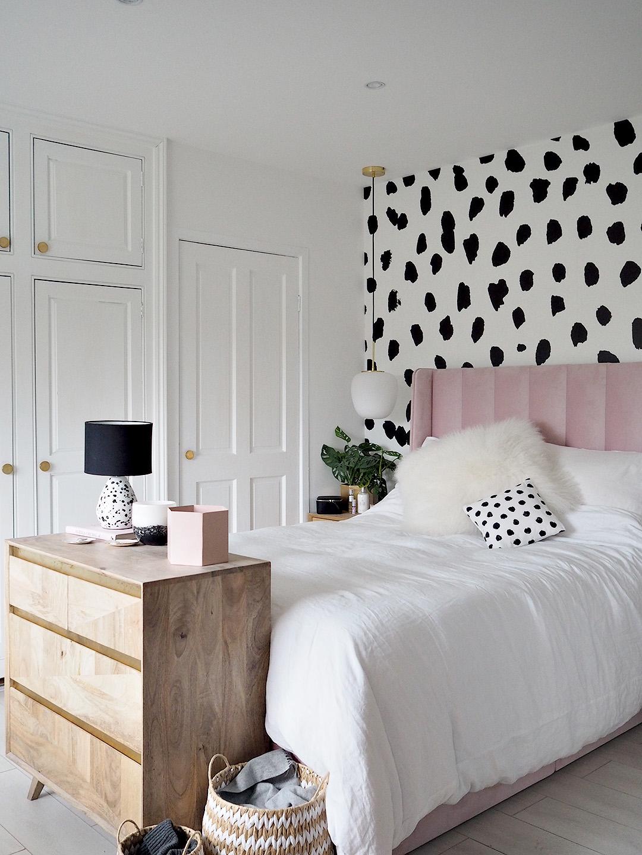 Dalmatian Print Pink Parlour Bedroom Makeover Lust Living