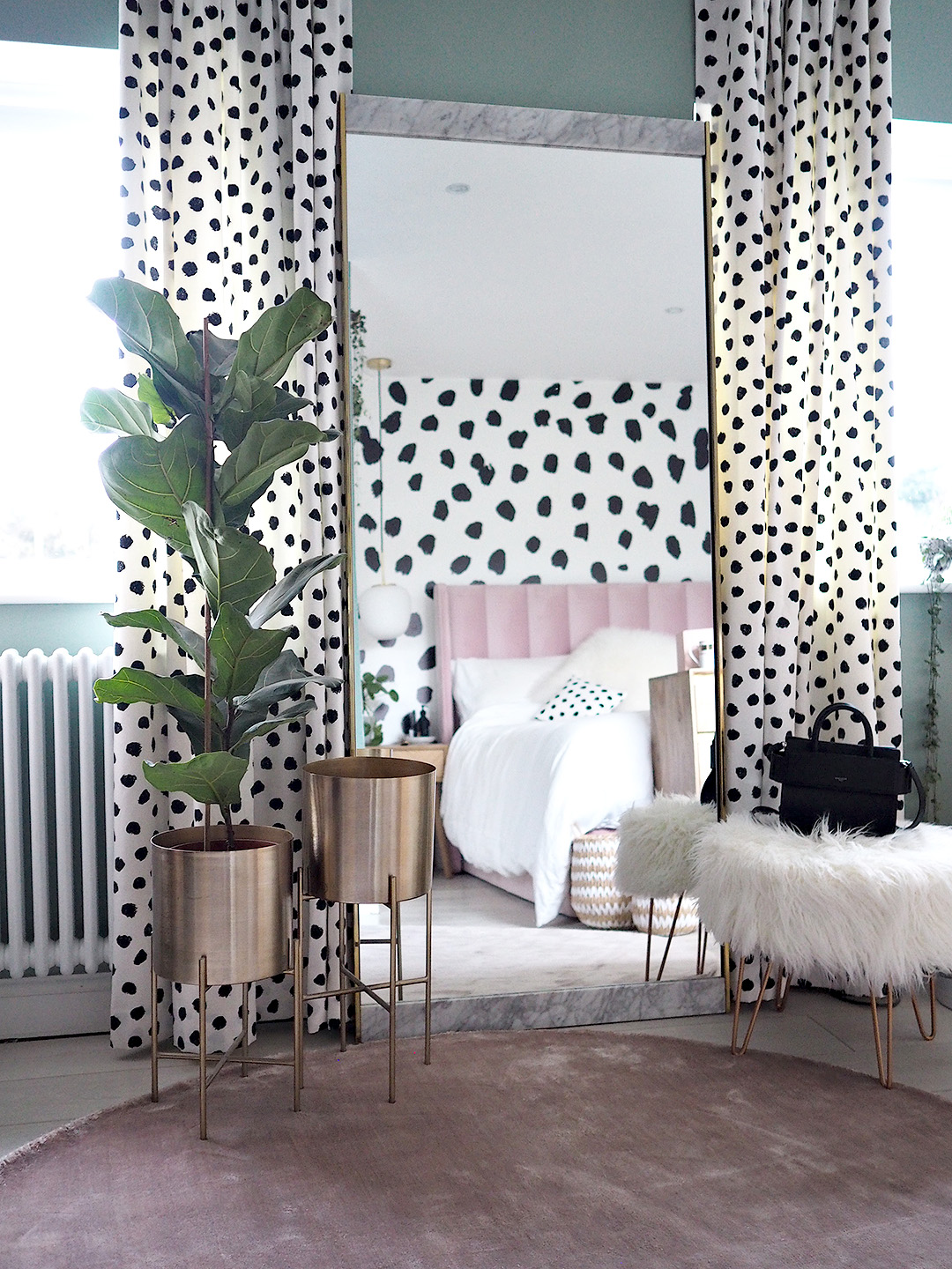 Dalmatian Print Pink Parlour Bedroom Makeover Lust Living