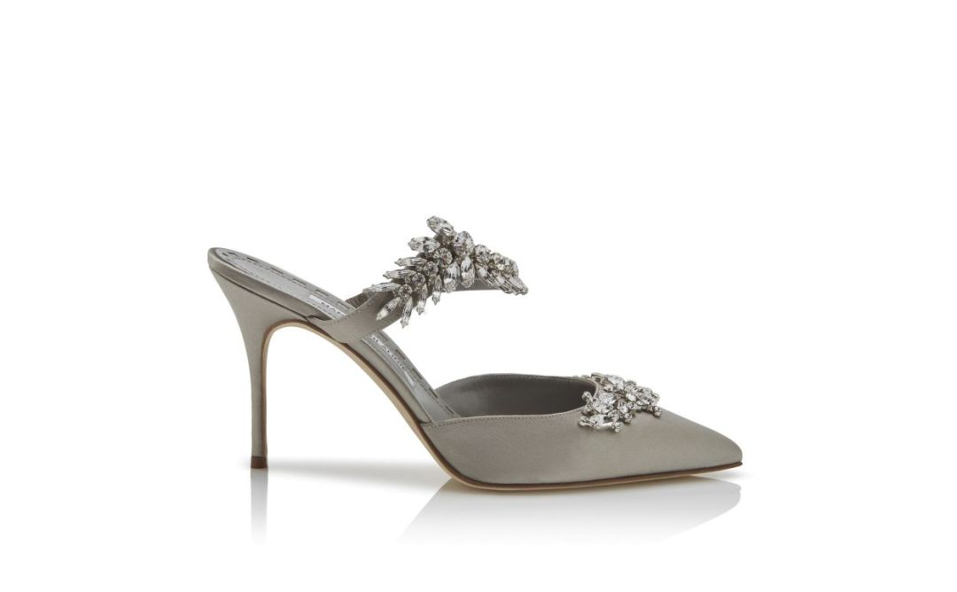 Manolo Blahnik Lurum Crystal Embellished Slip-on Pumps