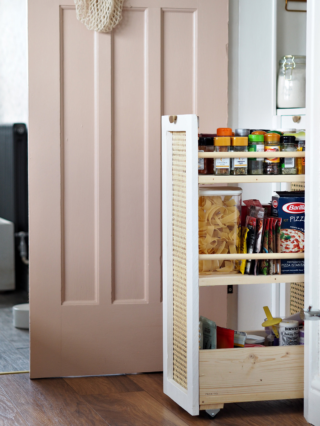 Pink Under the Stairs Pantry Cupboard