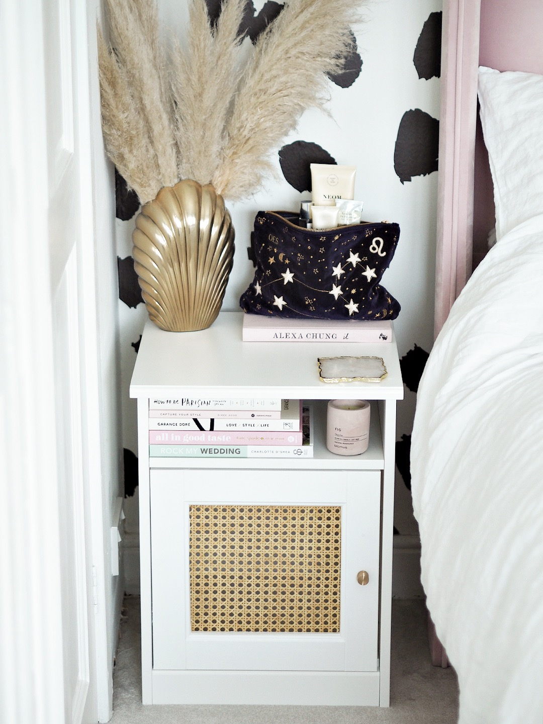Rattan Cane IKEA Bedside Table DIY Hack