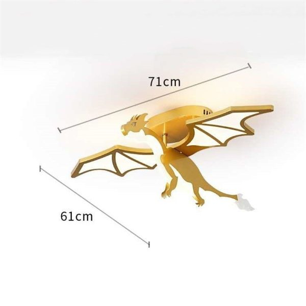 plafonnier dragon jaune