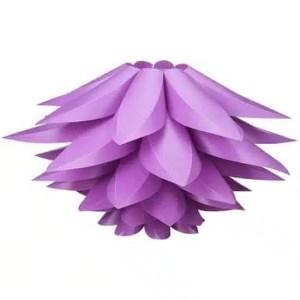Lustre fleur de lotus pourpre