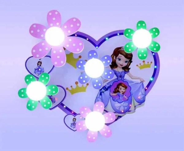 Plafonnier Princesse Sofia en forme de cœur