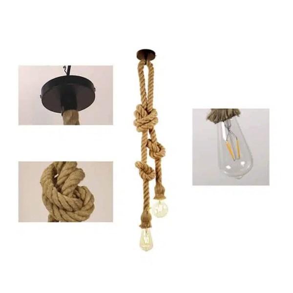 Lustre corde chanvre