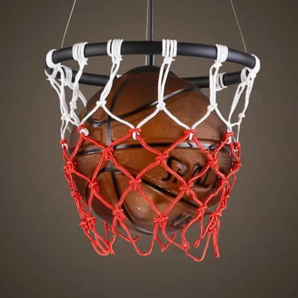Lustre panier et ballon de basket