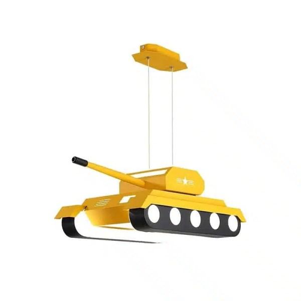 Lustre char d'assaut jaune
