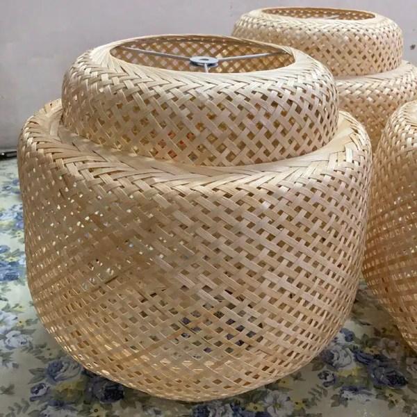 Lustre chambre parentale bambou