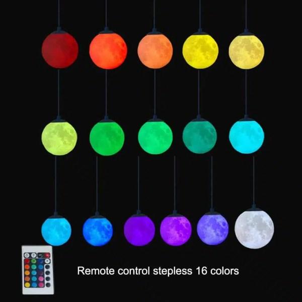 Lustre planète chaque couleur