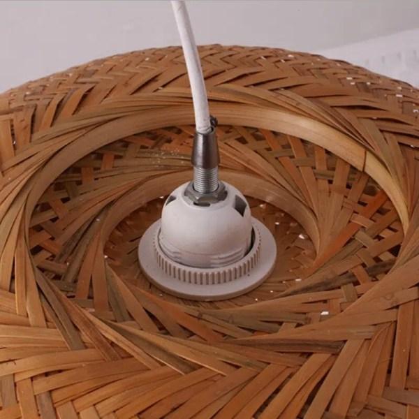 Lustre bambou demi sphère
