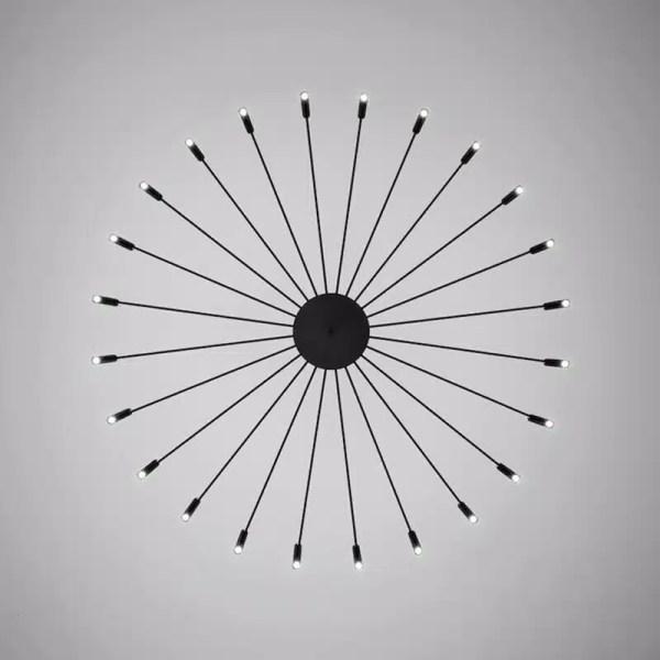 Lustre cercle à branche noire