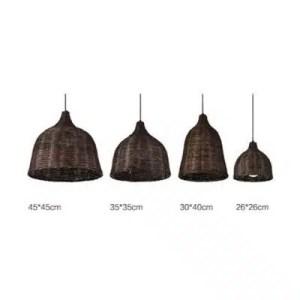 Suspension luminaire bambou foncé dimension